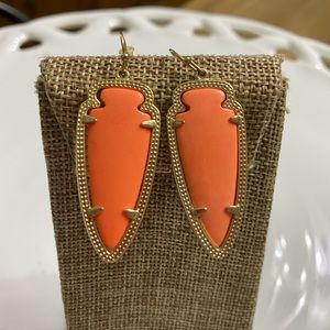 Kendra Scott Skylar Coral Earrings Retired HTF